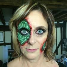snake scary makeup