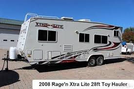 2008 rage n xrtra lite xss 2400 toy hauler travel trailer rv cargo cer used