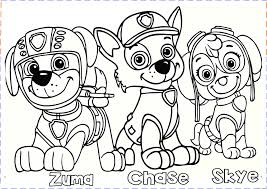 Kids Coloring Pages Paw Patrol Chase 20 P Free Printable For 9