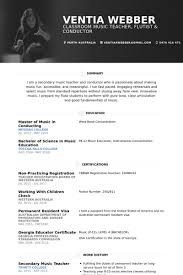 Musician Resume Example Unique Sample Resume For Musician Complete Guide Example