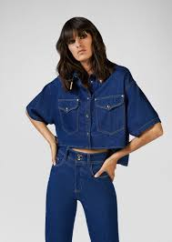 <b>Versace Jeans</b> Couture Heritage Gold <b>Metal</b> Tips <b>Denim</b> Shirt for ...