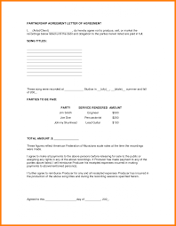 How To Write Up A Contract For Payment Partnership Contracts Template With 24 How To Write A Agreement 24