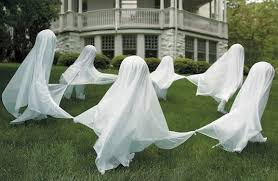 16 Amazing Handmade Halloween Decorations You Can Make at Home. Lawn Ghost  Decorations