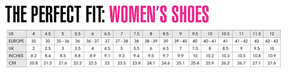 Womens Shoe Chart Clothes Stores European Shoe Size Conversion Women
