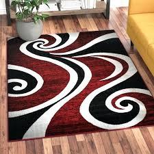 wayfair area rugs 5x7 red black white area rugs dream com swirl rug carpet modern