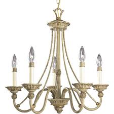 five light seabrook ivory finish candle sleeves glass up chandelier