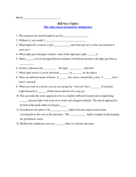 Worksheets For Bill Nye On Resume with Worksheets For Bill Nye