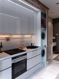 Kitchen Laundry Room Combination In Small Studio