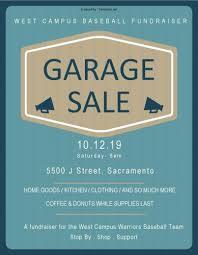 Garage Sale Fundraiser For Baseball Team 10 12 West Campus