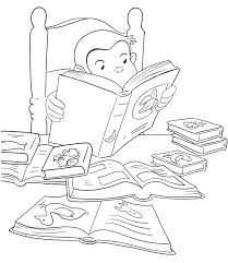 curious george coloring pages curious reading printable coloring book page for kids curious george coloring pages