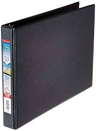 Page Binder 7 Ring 3 On A Page Business Check Book Binder Black