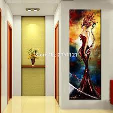 handpainted oringinal bar porch office decorations oil painting elegant wine lady ideas pop modern y vertical wall canvas art in painting calligraphy