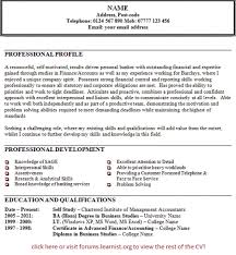 resume personal statements examples