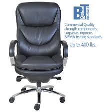 office leather chair. Serta At Home 45496 500 Series Executive Puresoft Faux Leather Chair In Black Office