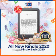Máy đọc sách Amazon All-new Kindle 10th Generation - 2019 - 4gb - đen/trắng  - Xaha Store