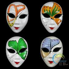 Plain White Masks To Decorate Hand Painting DIY Plain White Masks Women Men Thicken Paper Pulp 21