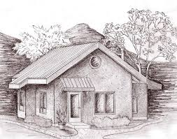 straw bale house plans. Sketch Of Affordable Straw Bale Applegate Cottage House Plans