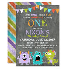 Lil Monster Birthday Invitations Little Monster Invitations Zazzle