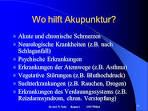 Akupunktur bei psychischen störungen