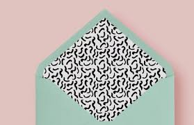 Funky Squiggles And Lines Envelope Liner A7 Envelope Liner