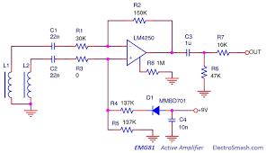electrosmash emg81 pickup analysis emg81 circuit schematic