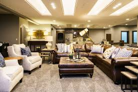 Interior Design Omaha Basement Family Room Leather Furniture Fun And Funky