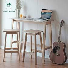 Louis Fashion <b>Bar Tables</b> All <b>Solid</b> Wood Simple <b>Log</b> Nordic ...