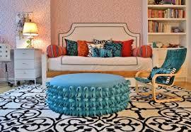 geometric pattern rug for teen girls room floor idea