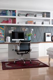 easy home office with wall shelving