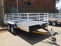 4m double axle utility trailer with brakes for