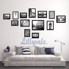 black picture frames wall.  Black Large Multi Picture Photo Frame Frames Wall Set 13 Pieces Black Inside
