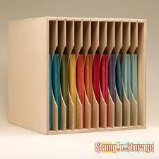 {Organiztion} DIY: Turn a Bookcase Into Perfect Paper Storage - Scrap  this...and that!   Things to try   Pinterest   Scrapbook paper  organization, ...