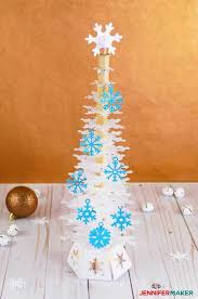 Snowflake christmas tree png image. Deluxe Paper Snowflake Christmas Tree Luminary Pattern And Svg Cut Fil Jennifermaker