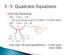 solve each equation factoring 5 3a quadratic equations photoshot luxury
