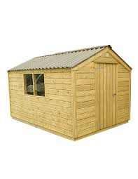 free delivery 8 x 6 shiplap full tongue groove apex wooden garden sheds easy fit roof order now from direct garden buildings for low s and