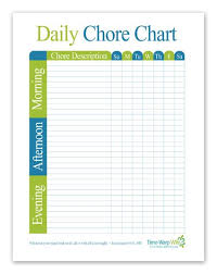 Free Printable Daily Chore Chart Daily Chore Charts