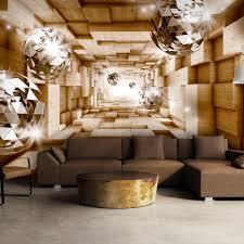 Vlies Tapete Top Fototapete Wandbilder Xxl 400x280 Cm Abstrakt Optisch 3d Optik Kugel Holz A A 0155 A C