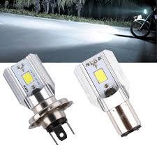 H6 Light Bulb H4 H6 Led Motorcycle Headlight Bulbs Cob Led 1000lm Ba20d Hi