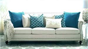 blue sofa grey walls navy couch with light living room decor dark rug ideas kids beautiful pillows