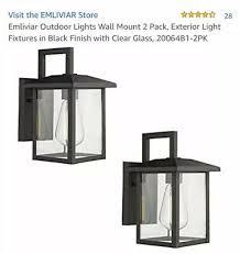 emliviar outdoor lights wall mount 2