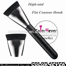 whole hot sell 163 flat contour makeup brush with copper whole make up brushes