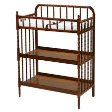jenny lind changing table with pad cherry