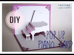 <b>DIY</b>: 3D Pop up <b>Piano</b> card tutorial with layout| I am a <b>bird</b> - YouTube