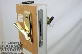 slider door lock repair patio