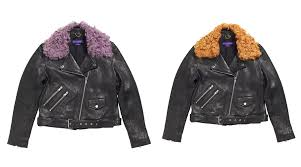 the pony rider with detachable shearling collar lavender left and marmalade right