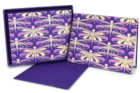 purple note cards 36627 dragonfly purple note cards set of 8 nc283 35 35