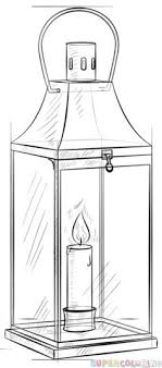 how to draw a lantern step by step drawing tutorials for kids and beginners