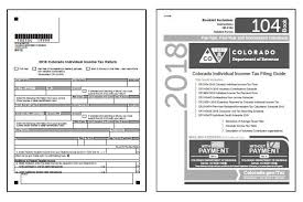 Colorado Tax Forms 2019 Printable State Co 104 Form And Co