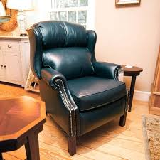 navy recliner chair leather recliner navy blue trim charles navy blue leather recliner club chair
