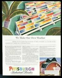 Details About 1941 Pittsburgh Paint Industrial Finish Wide Scale Color Chart Vintage Print Ad
